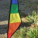 Recumbent flag - rainbow